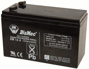 12vDC 9amp SLA Battery