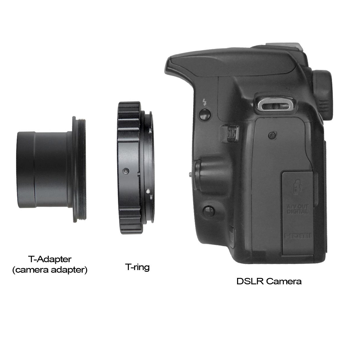 T-Rings for DSLR Cameras - Canon EOS, Nikon, Micro Four Thirds, Sony